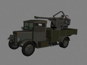 20-мм зенитная установка автомат Breda Model 35 на шасси грузовика SPA-38R
