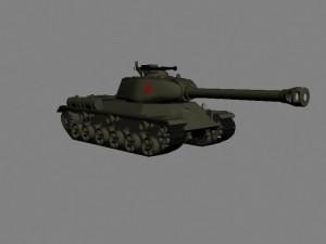 Советский тяжелый танк ИС-2 с крупнокалиберным пулеметом ДШК