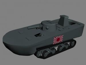 Новый юнит в РВГ (RWG) японский танк-амфибия Ka-Mi (Ка-Ми)