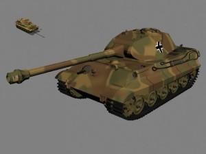 Тигр-Б с башней Порше