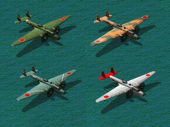 Доработанная версия дальнего бомбардировщика флота Мицубиси G3M Нелл