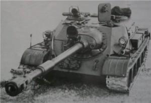 А так СУ-122-54 выглядела в жизни. Вид спереди