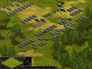 Противостояние 3 - Sudden Strike. Немецкие захватчики в полной готовности перейти советскую границу.