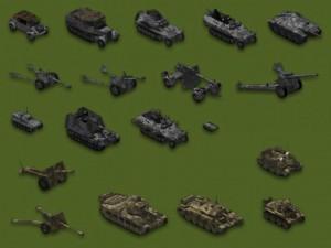 Противостояние 3 -Sudden Strike. Немецкие и английские юниты