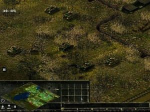 Итак, слева вверху - Pz-4G и Pz-4Н, снизу - два Pz-4J и Pz-4Н при поддержке Пантеры-А и Пантеры-G (спряталась за деревом).