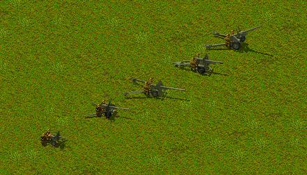 Обновленная графика артиллерии британцев, в цвете олива.